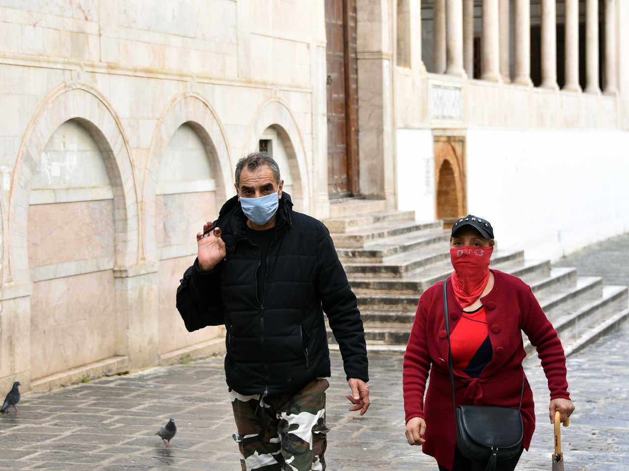 Масочный режим во время коронавируса в Тунисе