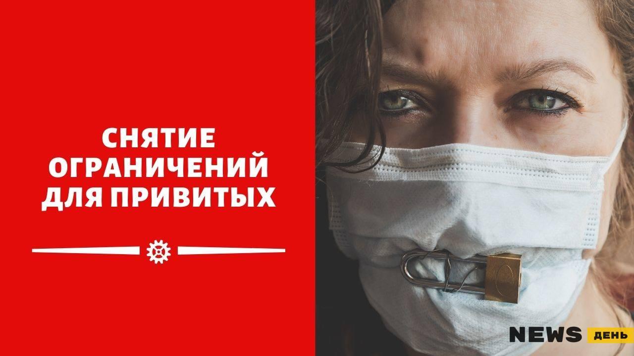 Снятие ограничений для привитых от Ковида в России в 2021 году